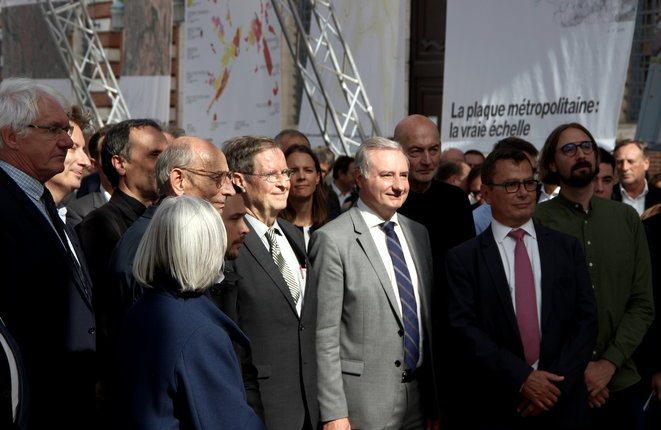 Jean-Luc Moudenc, sur la place du Capitole, en octobre 2018 lors de l'événement Toulouse 2030. © Manu Riondé