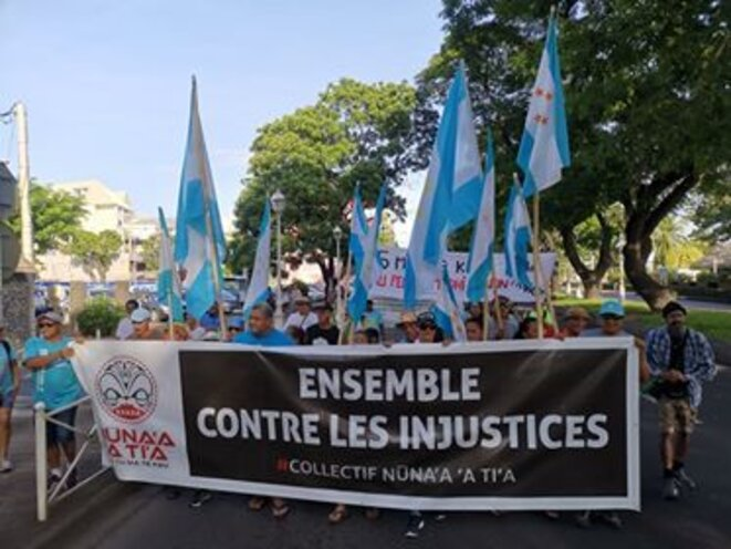 Demonstration in Papeete, the capital city of French Polynesia, on Saturday June 20th 2020. © Photo by Viri Taimana and Tokai Devatine.