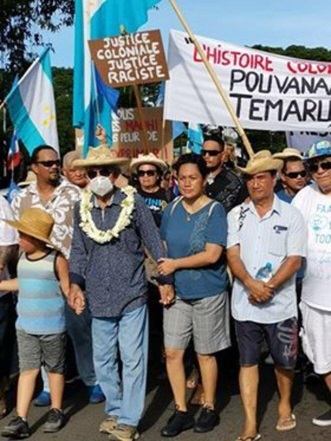 Demonstration in Papeete, the capital city of French Polynesia, on Saturday June 20th 2020. © Viri Taimana and Tokai Devatine.