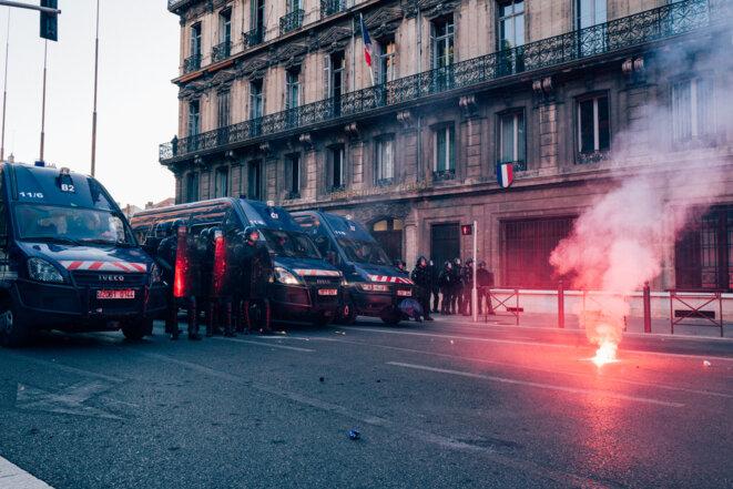 Manifestation contre les violences policières, à Marseille, le 13 juin. © Hans Lucas via AFP
