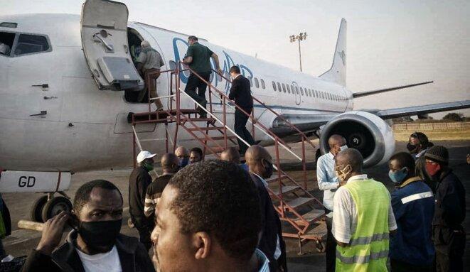 Les ressortissants belges quittent Lubumbashi pour Kinshasa le 24 juin 2020 © DR