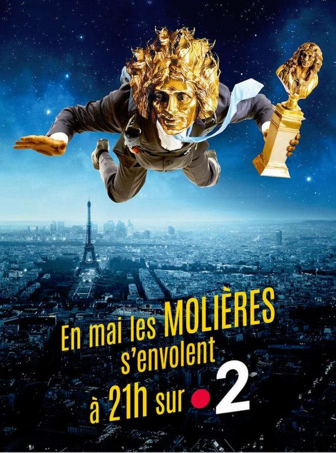 Molière, dédoublé en statuette, survole Paris grâce à France 2 avec un retard d'un mois sur le calendrier : gare à la chute (d'audience) !