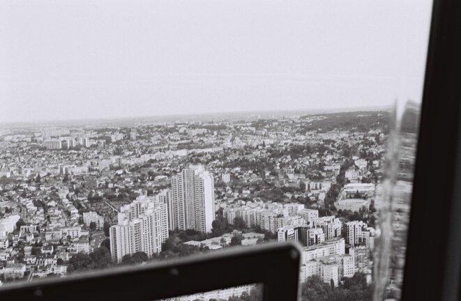 Vue d'hélicoptère de la région parisienne © François Rochon