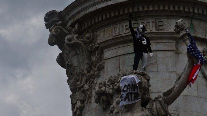 13.06.2020, Manifestation à Place de la République contre les violences policières, l'impunité d'Etat et le racisme d'état. © Palice Jékowski