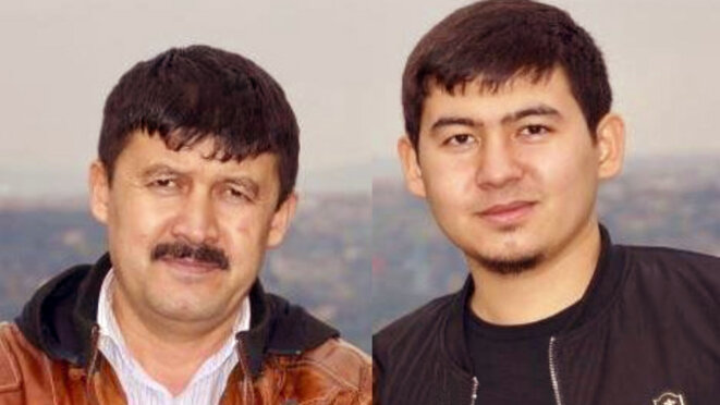 Enver Tursun (gauche) et Ezimet Enver (droite) présents sur deux photos non datées. (photographie offerte à titre gracieux par les membres de la famille d'Enver)