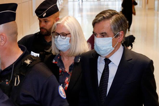 Penelope et François Fillon, le 29 juin au tribunal de Paris. © AFP