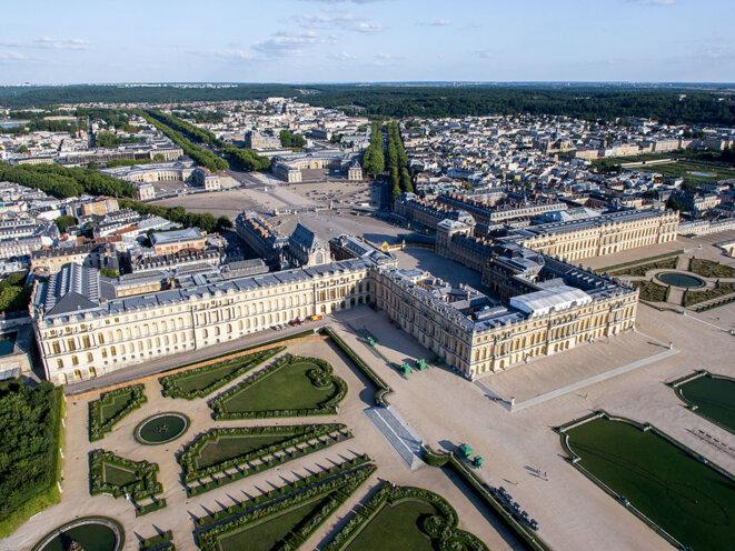 Vue aérienne du château de Versailles en 2013. © DR