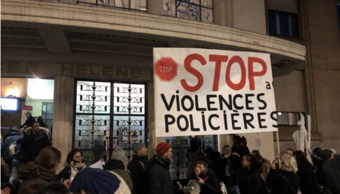 Rassemblement contre les violences policières devant le lycée Hélène-Boucher à Paris, le 20 janvier 2020. © DR