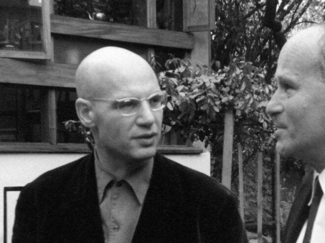 Alexandre Grothendieck et Laurent Schwartz dans les années 1960. © AFP