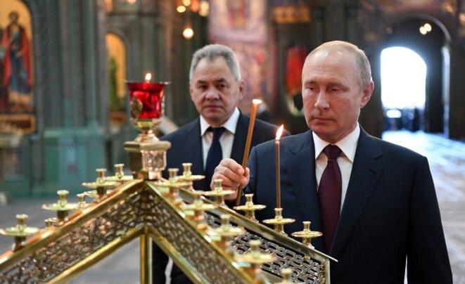 Vladimir Poutine, le 22 juin 2020. © Alexey Nikolsky/Sputnik/AFP
