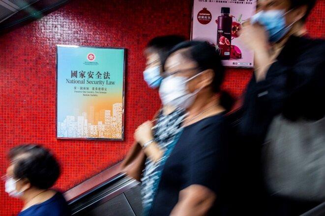 A Hong Kong, le 29 juin. © Isaac Lawrence/AFP