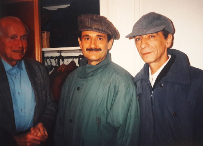 Laurent Schwartz, Michel Broué et Léonide Pliouchtch dans les années 1990. © (collection T. Pliouchtch)