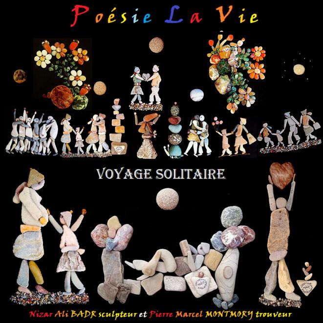 couverture du quatrième journal gratuit de Poésie La Vie © Nizar Ali Badr et Pierre Marcel Montmory