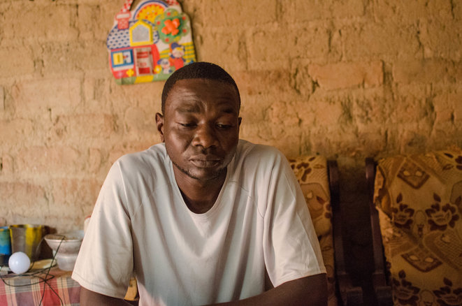 Central African Republic taxi driver Narcisse Mbetinguiza, shot through the stomach by a French soldier in 2014 and awarded damages of 2,732 euros. © JB