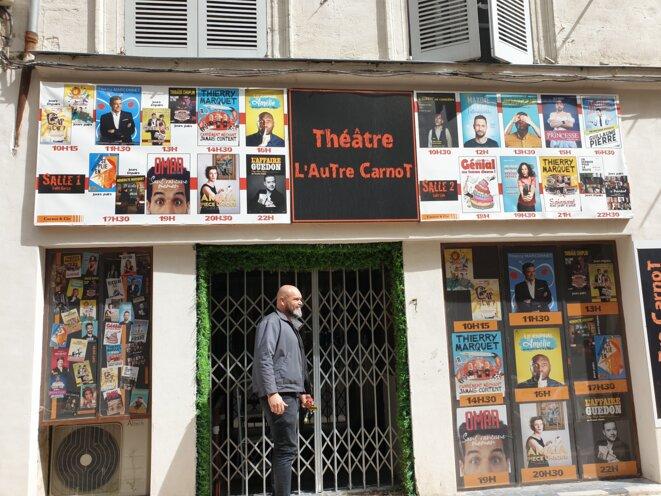 Stéphane Dupont, directeur des théâtres Le Carnot et L'Autre Carnot, à Avignon. © CH