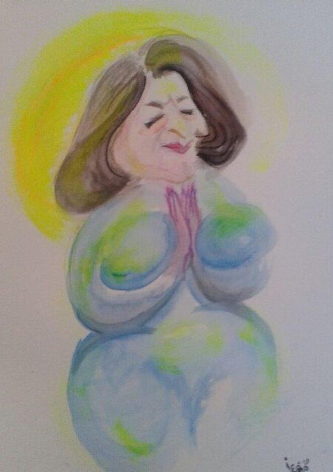 """Sainte Agnès : """"C'est pas moi, c'est les z'autres ! Moi, z'ai tout fait bien ..."""" © Iconoclash"""