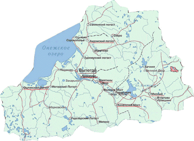 Illustration 1: carte du raïon (les lieux d'implantation des référents territoriaux sont soulignés en rouge). © Daniel Mathieu