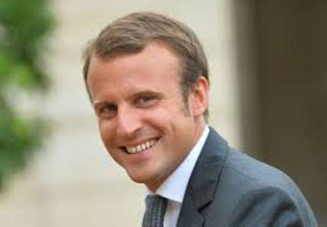 Macron souriant © Nicole Vavasseur