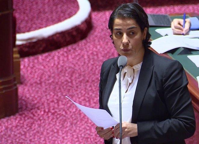 Frédérique Espagnac. © Capture d'écran/Public Senat