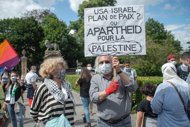 Non à l'annexion des territoires palestiniens par Israël © Dominique Botte