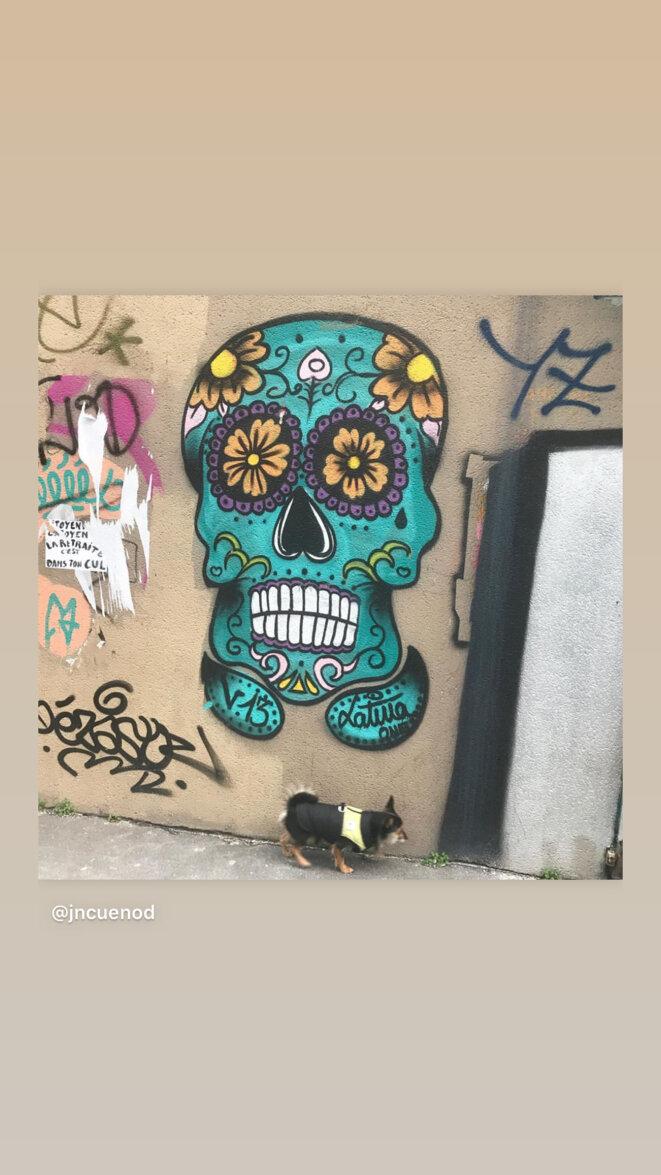L'impasse est un monde/ Sur son mur cris colorés/ Fourmillement d'interstices//  Ses invisibles tribus/Tracent leurs signes secrets © JNC