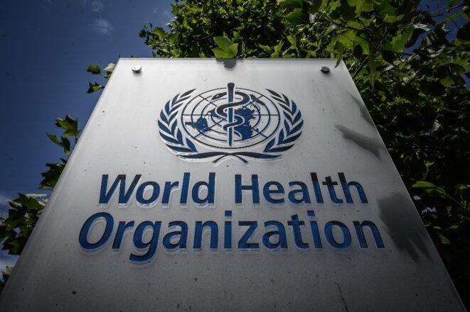Le siège de l'OMS à Genève le 3 juillet 2020. © Fabrice Coffrini/AFP