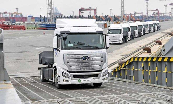 Partis pour la Suisse en provenance du port de Gwangyang au sud de la Corée du Sud...