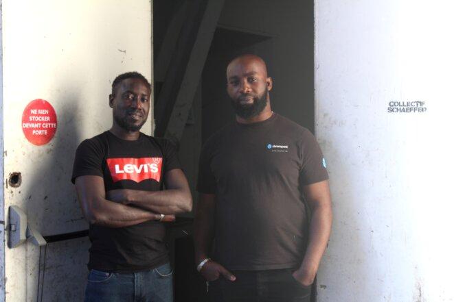 Aboubakar et Jean-Marc sont les délégués du collectif Schaeffer. © NB