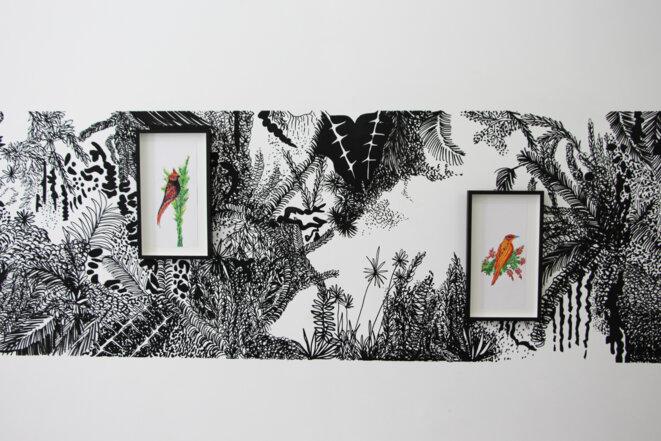 Chourouk Hriech, exposition personnelle « …et des échelles pour les oiseaux », galerie Anne-Sarah Bénichou, Paris, du 16 mai au 18 juillet 2020. © Chourouk Hreich, Coiurtesy Galerie Anne-Sarah Bénichou