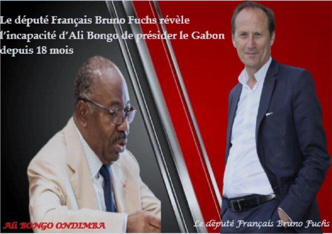 LE PRESIDENT ALI BONGO ONDIMBA DU GABON ET LE DÉPUTÉ Français BRUNO FUCHS.