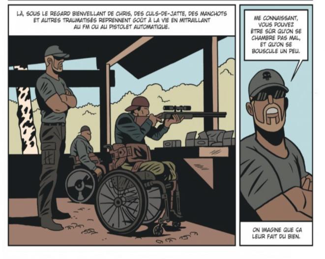 """Extrait page 28 de """"L'Homme qui tua Chris Kyle"""". © Fabien Nury/ Brüno/Dargaud"""