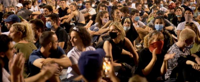 Manifestation à Belgrade jeudi 9 juillet 2020 © Marija Jankovic