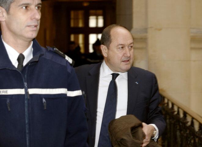 L'ancien directeur des services secrets intérieurs, Bernard Squarcini, le 18 février 2014, au tribunal de Paris. © FRANCOIS GUILLOT / AFP