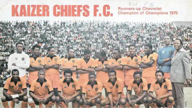 Les Kaizer Chiefs de Soweto, champions en 1975.
