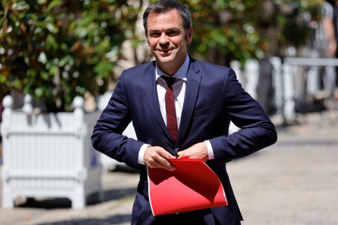 Olivier Véran, le ministre de la santé, à Matignon, le 13 juillet 2020. © AFP