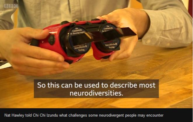 Nat Hawley a expliqué à Chi Chi Izundu les défis que peuvent rencontrer certaines personnes neurodivergentes © Vidéo BBC