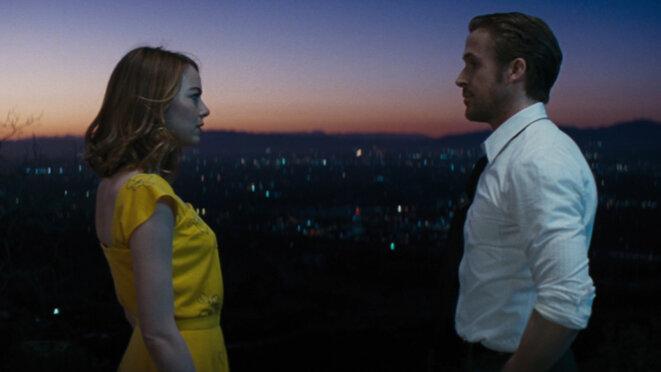 """Emma Stone, Ryan Gosling, """"La la land"""", film de Damien Chazelle (2016) © SND"""