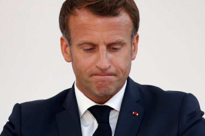 Emmanuel Macron, le 13 juillet. © AFP