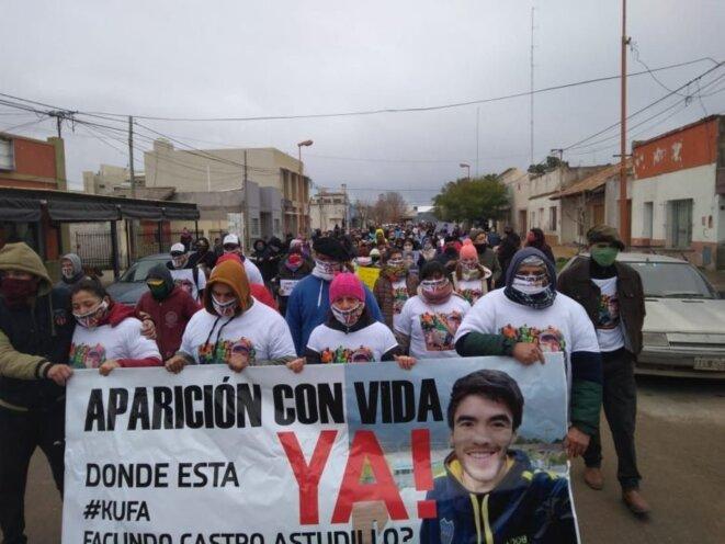 Mobilisation pour l'apparition en vie de Facundo Castro © ANred