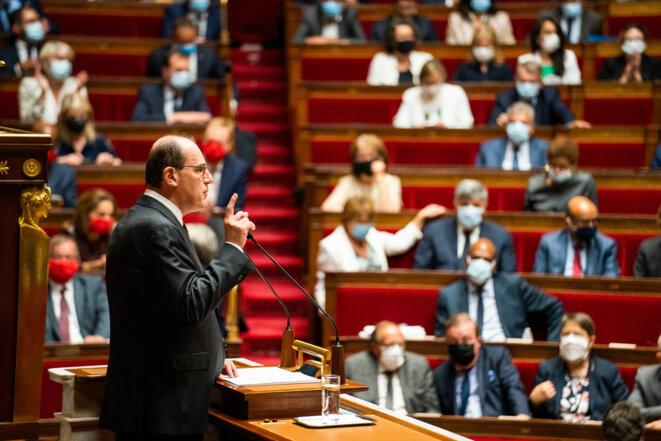 Jean Castex à l'Assemblée nationale le 15 juillet 2020. © Hans Lucas via AFP