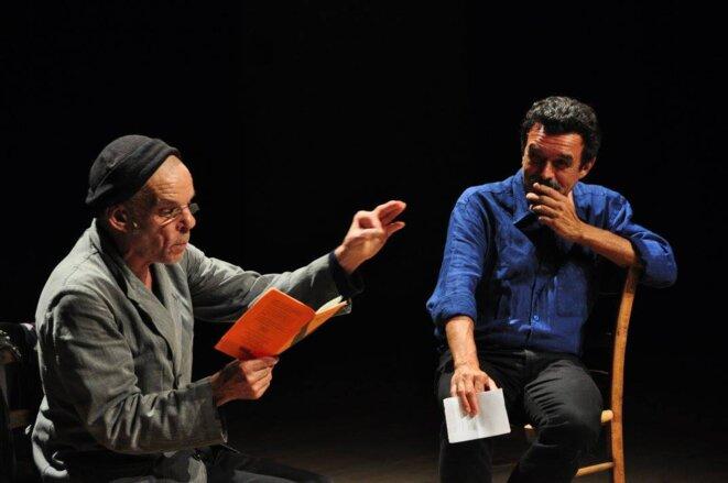Denis Lavant et Edwy Plenel