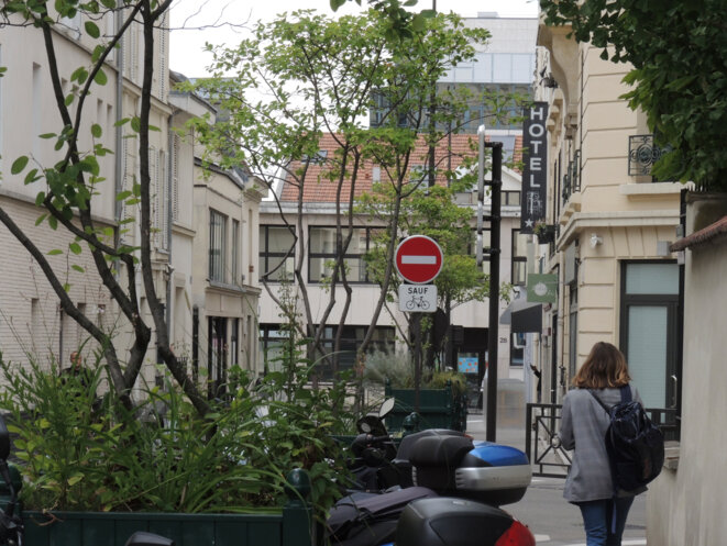 Rue du Donjon, en regardant vers les usines Kodak qui n'existent plus depuis 1986. © Gilles Walusinski
