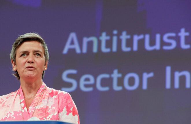 La commissaire européenne chargée de la concurrence. © STEPHANIE LECOCQ /  AFP
