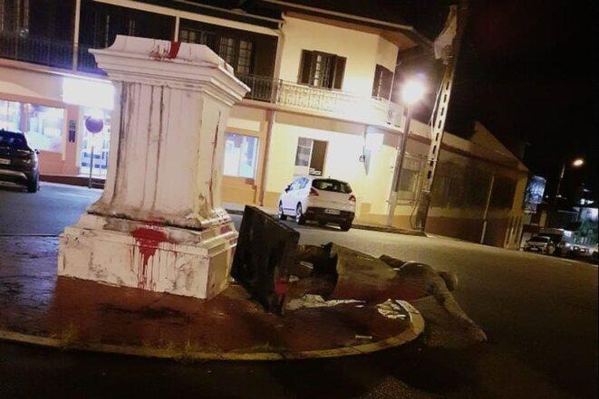 Place Victor Schoelcher à Cayenne. Crédit photo anonyme.
