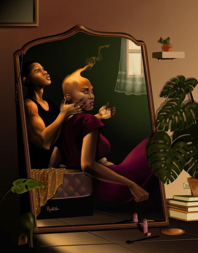 Portrait des sentiments de Christina Julmé par l'artiste haïtien, Pyelila © Pyelila