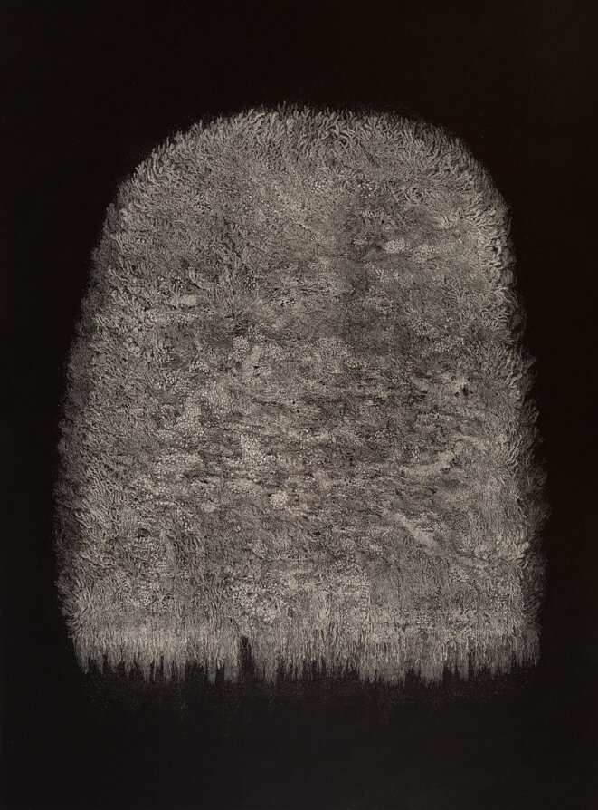 Transhumance, Cape II (2015) eau-forte - 120 x 90 cm. © Muriel Moreau