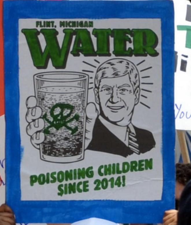 Marche pour le climat à Flint (Michigan), en 2017 © Wikicommons, CC.