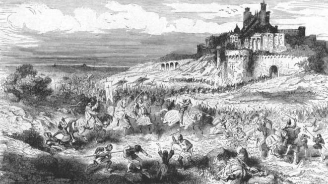 Les Croisés devant Béziers, le 22 juillet 1209. © Gravure (1862), Collection particulière