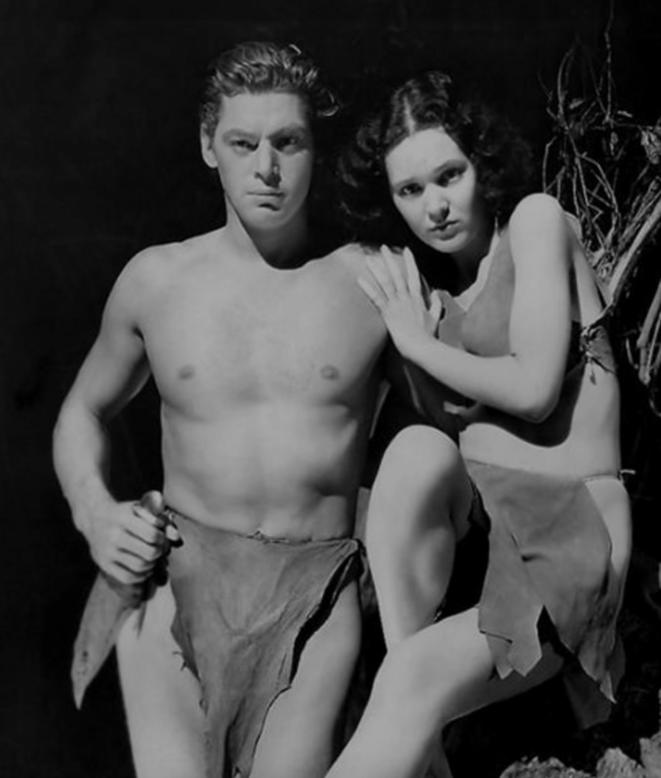Tarzan (Johnny Weissmuller) et Jane Parker (Maureen O'Sullivan).