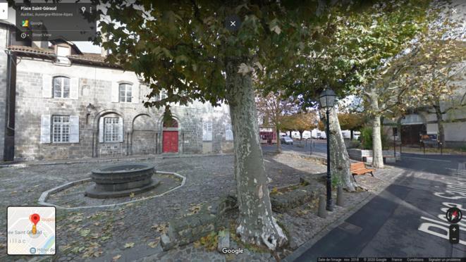Place Saint-Géraud, Aurillac, France © Google Street